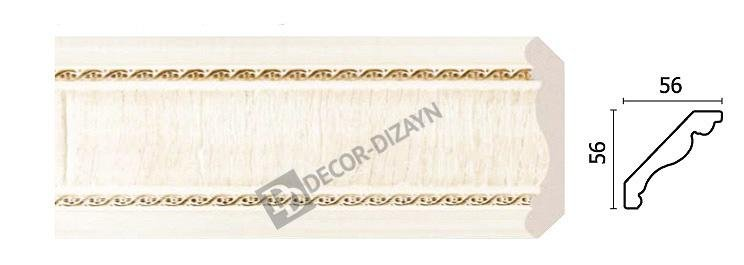 Картинка Карниз потолочный Decor-dizayn 173-6 в гипермаркете лепнины vsyalepnina.ru