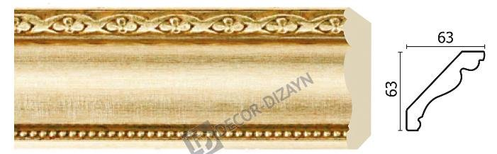 Картинка Карниз потолочный Decor-dizayn 146-933 в гипермаркете лепнины vsyalepnina.ru