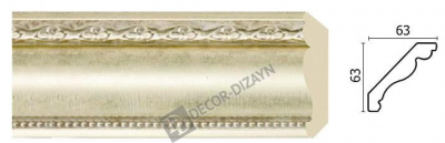 Картинка Карниз потолочный Decor-dizayn 146-937 в гипермаркете лепнины vsyalepnina.ru